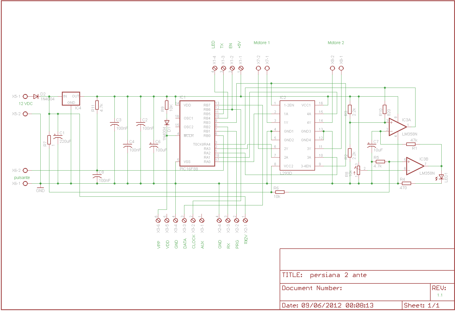 Schema Elettrico Per Finecorsa Motoriduttore : User project centralina per apertura automatizzata
