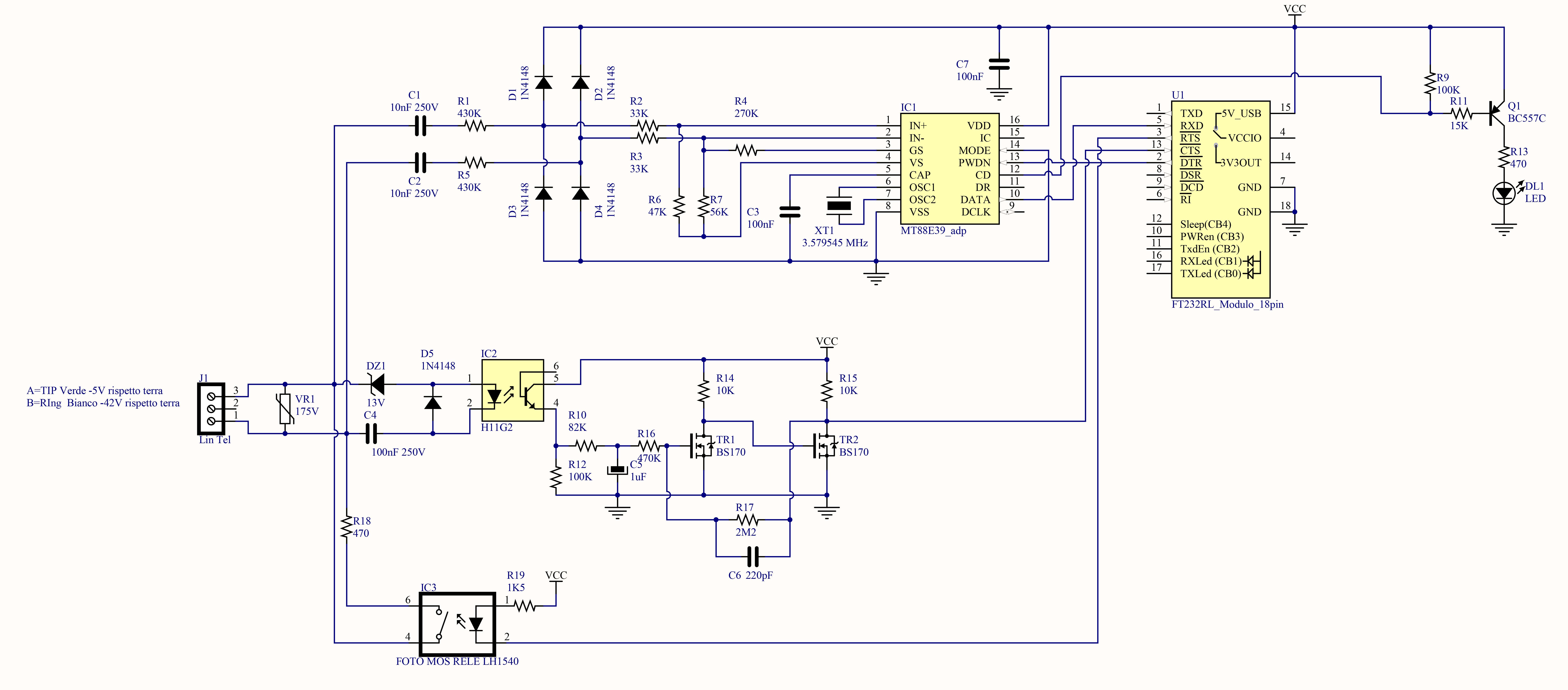 Schema Elettrico Micro Usb : Un circuito di identificativo chiamante con sintesi vocale