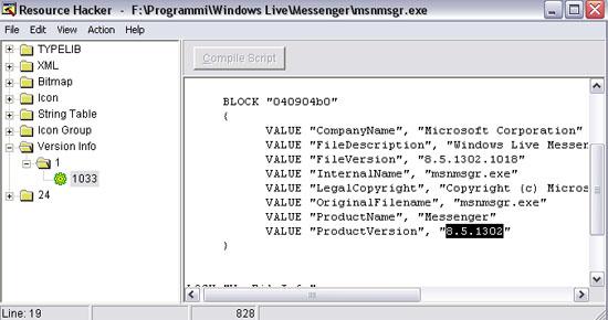 modificare_la_versione_di_messenger