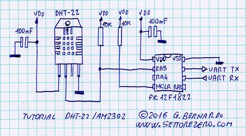Schema utilizzato per il tutorial. Il disegno è stato realizzato con ManoCad versione 2.0 Deluxe BIC powered edition