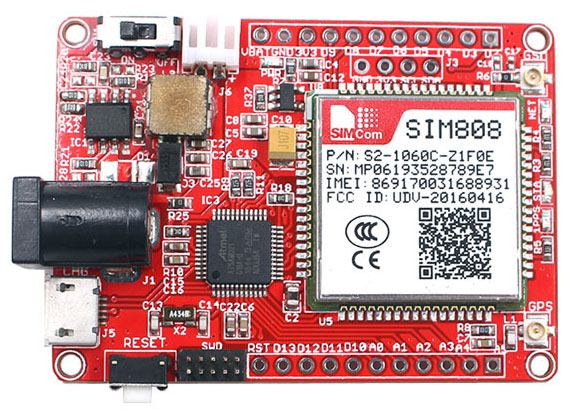 Arduino SIM808 GPS+GSM