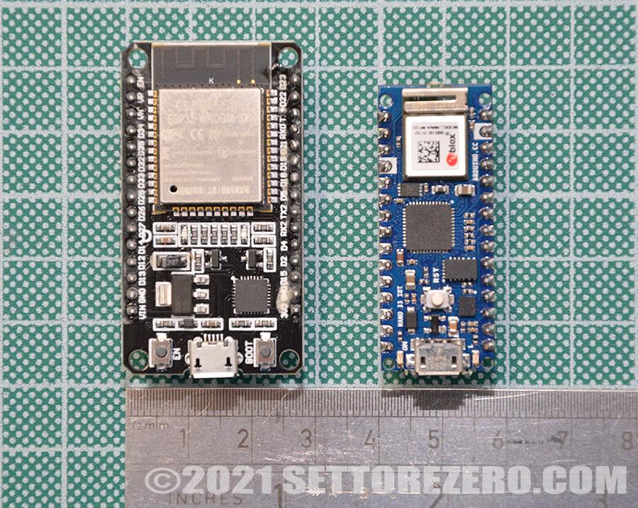 NodeMCU ESP32 vs Arduino Nano 33 IOT