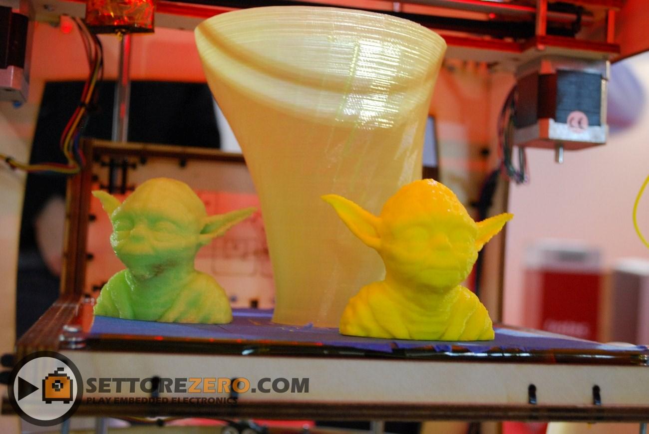 Yoda realizzati con stampante 3D