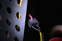 Controllare stufa a pellet da cellulare - Sensore di corrente montato intorno ad un cavo del motore coclea